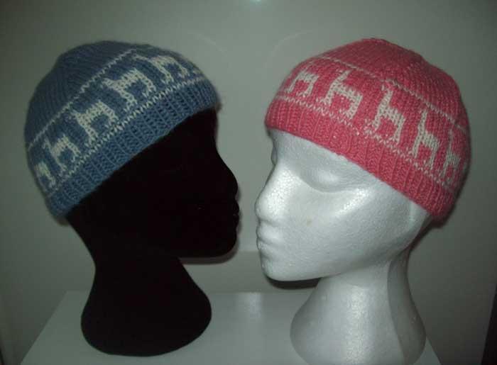 Children's knitted alpaca hats/beanies